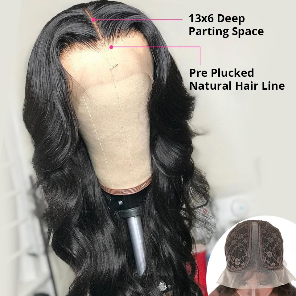 YYong  1x4& 13x1 Hairline Lace Wig Body Wave Lace Part  Wig   HD Transparent Lace Wigs Middle Part 120% 1