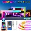 RGBWW Светодиодные ленты светильник bluetooth адаптер 5050 SMD RGB светодиодный светильник теплый белый 10 м 15 м Водонепроницаемый лента Диодная лента Г...