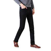 Plus size 28-42 Man Black Stretch Jeans Slim Men Elastic Straight Denim Pant High Quality Male Casual Fashion Trousers цены онлайн