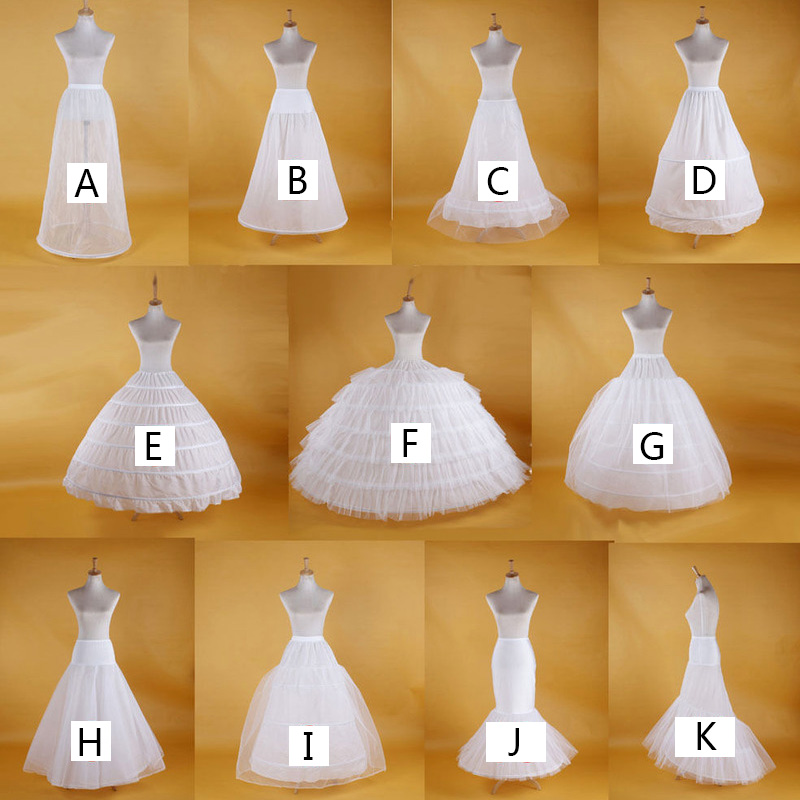 Bridal Wedding Petticoat Hoop Underskirt Women White Petticoat Tulle Dress Wedding Puffy Skirt  Vestidos Para La Boda Formal