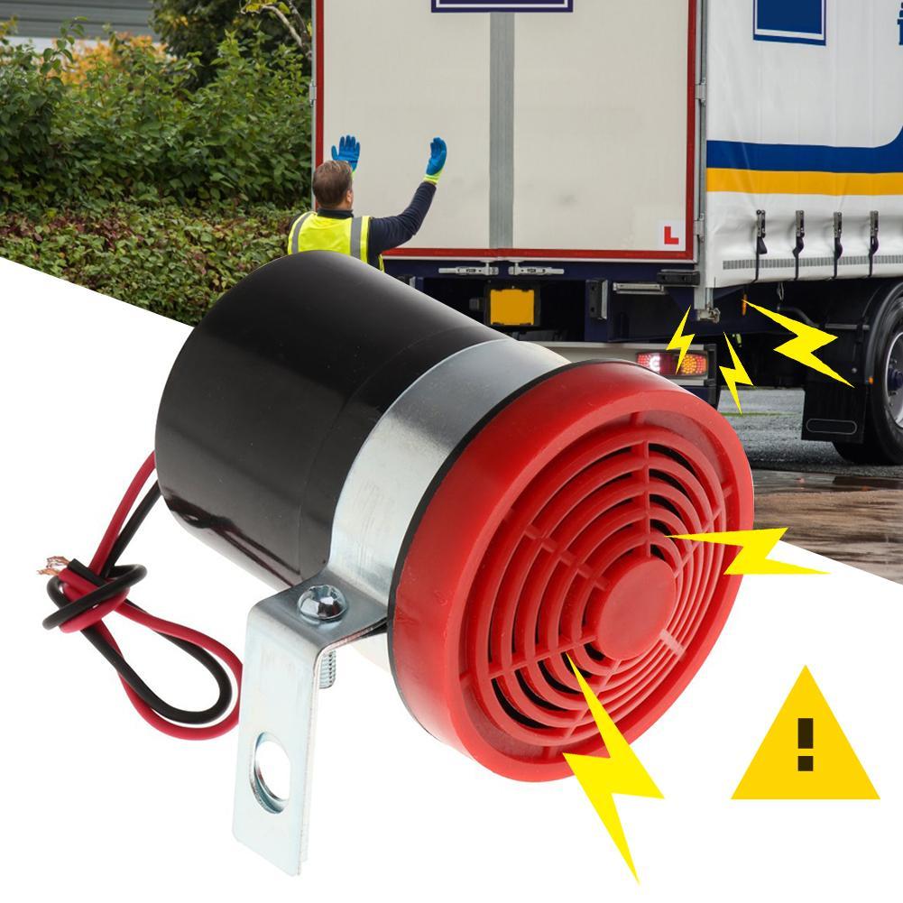 12V 102db сигнализация заднего хода Резервное копирование рог ABS Reverse сирена бипер зуммеры Предупреждение оповещения для автомобиля автомобиле...