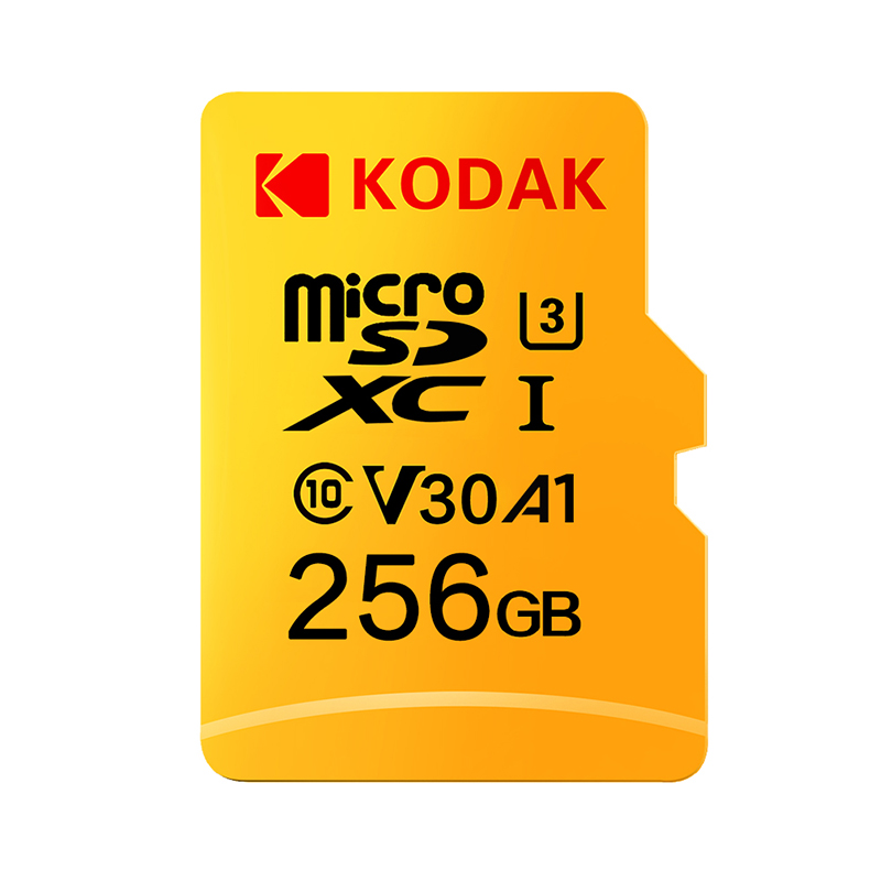 Tarjeta Micro SD Kodak U3 V30 Class10 SDXC SDHC tarjeta SD tarjeta de memoria TF Flash 512GB 256GB para almacenamiento de vídeo tarjeta de memoria segura