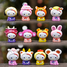 Cute Cartoon Hello Kitty Zodiac signs Anime PVC Action Figure Model Collectible Children Gifts Toys Dolls anime 15th anniversary one piece animal series frog usopp sogeking figure model gifts toys collection model cartoon collectible