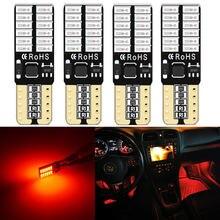 Красные светодиодсветодиодный светильник пы t10 w5w 168 194