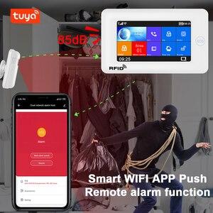 Image 2 - Awaywar نظام إنذار يدعم واي فاي و GSM لحماية المنزل الذكي لص متوافق مع Tuya IP Camrea