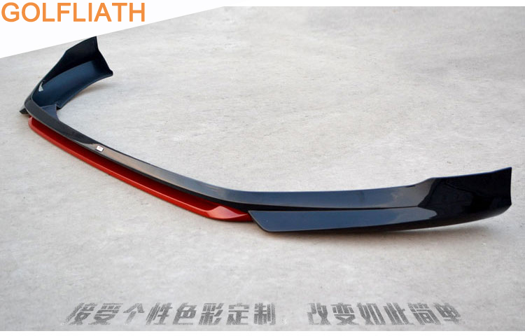 GOFLIATH PP Front Bumper Lip Diffuser for <font><b>VW</b></font> <font><b>golf</b></font> <font><b>7</b></font> VII MK7 2014 2015 2016 Car Styling NOT <font><b>GTI</b></font> and Rline image