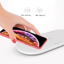Robotcube O48 10W 3 en 1 chargeur sans fil pour système IOS téléphone intelligent/écouteur/montre intelligente blanc