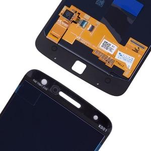 Image 5 - Original AMOLED Für Motorola Moto Z Droid XT1650 LCD Display Touchscreen Digitizer XT1650 01 XT1650 03 Bildschirm mit Burn Schatten