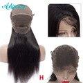 Pelucas de cabello humano de encaje completo ashimario pelo recto Remy brasileño Peluca de encaje completo alta relación 8 ''-24'' Natural línea de cabello