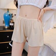 Летние Короткие штаны для сна больших размеров, женские безопасные короткие леггинсы, сексуальные свободные штаны уличные черные белые домашние ночные рубашки#20
