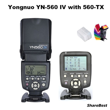 YongNuo YN-560 IV Flash Speedlite with YN560-TX Wirelss Transmitter for Canon 5D 60D 6D 7D 60D 750D 700D 600D 5D3 5D2 Camera