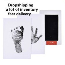 Baby Footprints Handprint Ink Pads Safe Non-toxic Ink Pads Kits for Baby Shower Inkless Mess Baby Pet Paw Prints Souvenir(China)