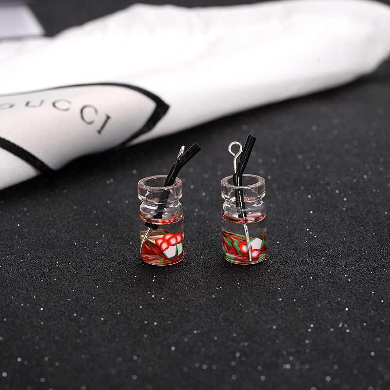 2pcs ตุ๊กตาอาหารขนาดเล็ก MINI Resin ขวดผลไม้จำลองเครื่องดื่มของเล่นเครื่องดื่มผลไม้ Play ตุ๊กตาตุ๊กตาอุปกรณ์เสริม