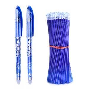 20 pcs/set Erasable Gel Pen Refills Rod 0.5mm Washable Handle Magic Erasable Pen for School Pen Writing Tools Kawaii Stationery