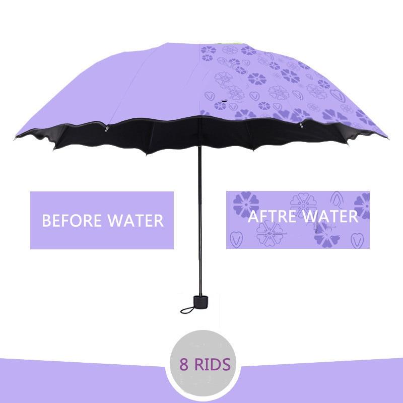 6Colors Blossom Umbrella Anti-UV Waterproof Portable Travel Umbrella Fashion Folding Umbrella Rain Women Gift Men Pocket Parasol