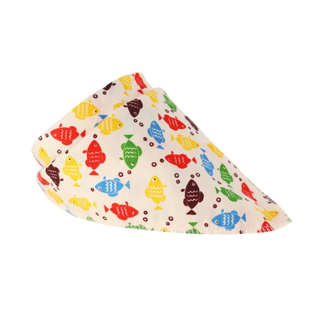 2019 مستلزمات الأطفال الكرتون لطيف طباعة مثلث منشفة لعاب الأطفال القطن قابلة لإعادة الاستخدام تغذية مريلة