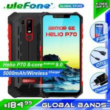 """Ulefone Rüstung 6E IP68 Wasserdichte Handy Helio P70 4 GB + 64 GB 6,2 """"19:9 FHD + 5000 mAh Android 9.0 Smartphone NFC Gesicht Entsperren"""