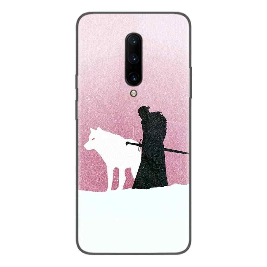 Drachen mutter schnee Schwarz Coque Telefon Fall Für Oneplus 1 + 7 Pro 6 6T 5 5T 3 3T 7Pro Kunst Geschenk Muster Angepasst Abdeckung Mode