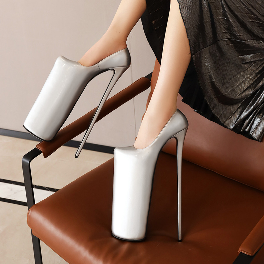 Karinluna New Arrivals High Large Size 50 Thin Heels Extreme 30cm High 20cm Platform Party Nightclub SM Women Shoes Woman Pumps