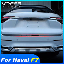 Vtear voor Haval F7 achter deur achterklep trim chrome decoratieve auto strip cover accessoires kofferbak hatch handvat auto-styling sticker(China)