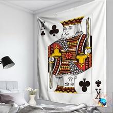 Poker Tarot Tapestry Queen King Emoji Mandala Wall Hanging Hippie Psychedelic Boho Decor tapiz pared tela