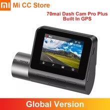 70mai-Cámara de salpicadero inteligente Pro Plus, videocámara DVR con GPS incorporado, 1944P, visión nocturna, ADAS, 24 horas de aparcamiento, Control por aplicación