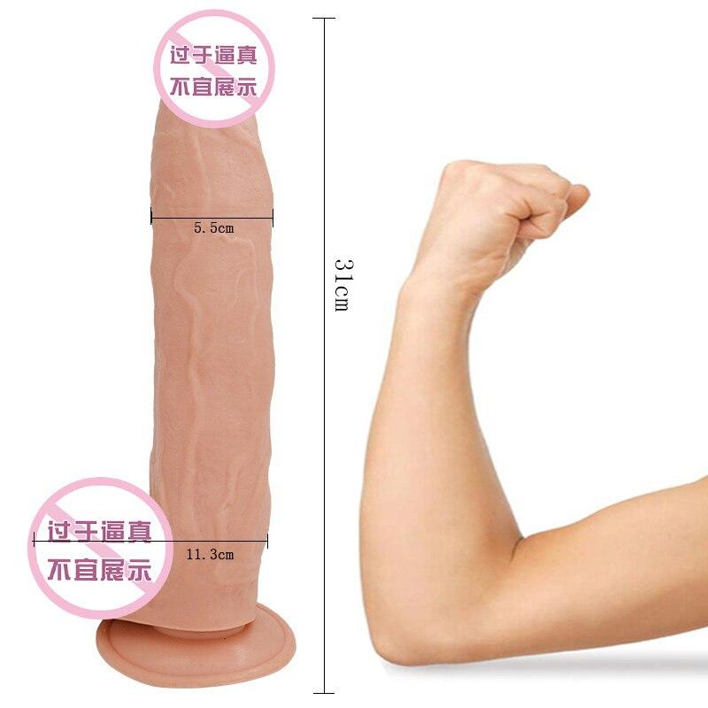 31X5.6 CM Huge Big Dildo Vibrator Large Suction Cup Dildo Realistic Horse Dildos Vibrators Toys For Woman Sex Shop Adult Toys