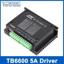 TB6600 0.2 5A CNC denetleyici, step motor sürücü nema 17,23, tb6600 tek eksenli İki fazlı hibrid step motor için cnc