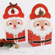 10PCS Christmas Eve Packaging Gift Box Christmas Gift Packaging Santa Claus Paper Bag Party Gift Box