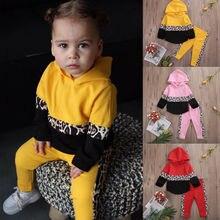 Осенне-Осенняя детская одежда для маленьких мальчиков и девочек, рубашка с капюшоном, топы, штаны, детская одежда, весенний спортивный костюм