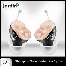 B01 작은 내부 귀 보이지 않는 최고의 미니 장치 보청기 조정 가능한 청력 사운드 앰프 Dropshipping