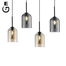 Lampe de chevet suspendue en verre au design moderne, luminaire décoratif d'intérieur, idéal pour un salon
