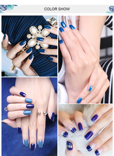Elite99 Blau Farben Serie 7ML Gel Polnisch Tränken Weg Vom UV LED Nagel Lack Primer Gel Polnischen Salon Maniküre Nagel gel Nagel Farbe Gel