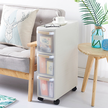 Япония подвижный Пластик 18 см шов Кухня Ящики для гостиной стеллаж для выставки товаров 2/3/4 Слои Ванная комната с выдвижными ящиками Тип шкафчик кабинет шкив