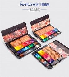 Марко Ренуар Изобразительное искусство 12/24/36/48/72/100/120 Профессиональные цветные карандаши набор цветных карандашей для рисования