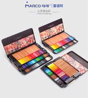 Marco Renoir Fine Art 12/24/36/48/72/100/120 Crayons de couleur professionnels Crayons ensemble de dessin à colorier