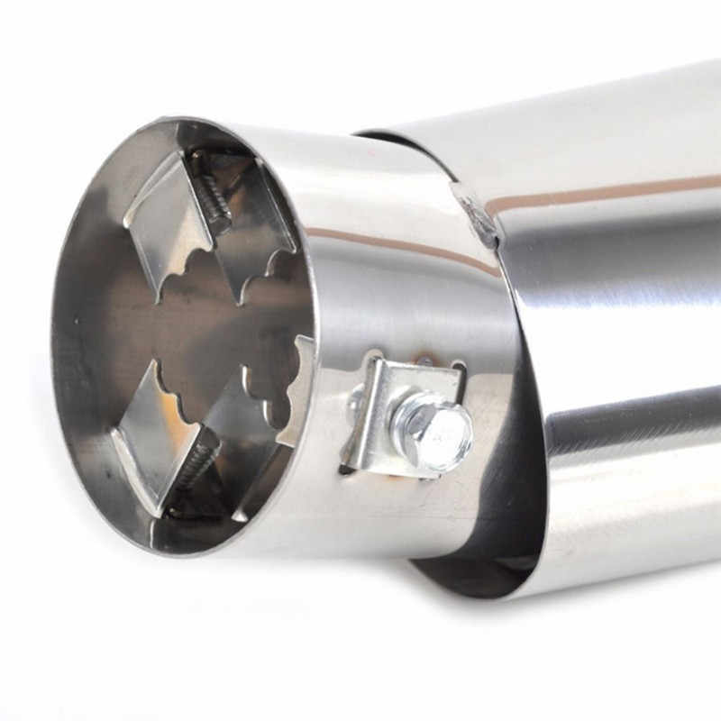 ユニバーサル車の自動車エキゾーストマフラーヒントステンレス鋼管クロームトリム修正された車のリアテール喉ライナーアクセサリー