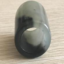 Chinese Natural Jade Carved Thumb Ring Exquisite Gift Accessories(China)