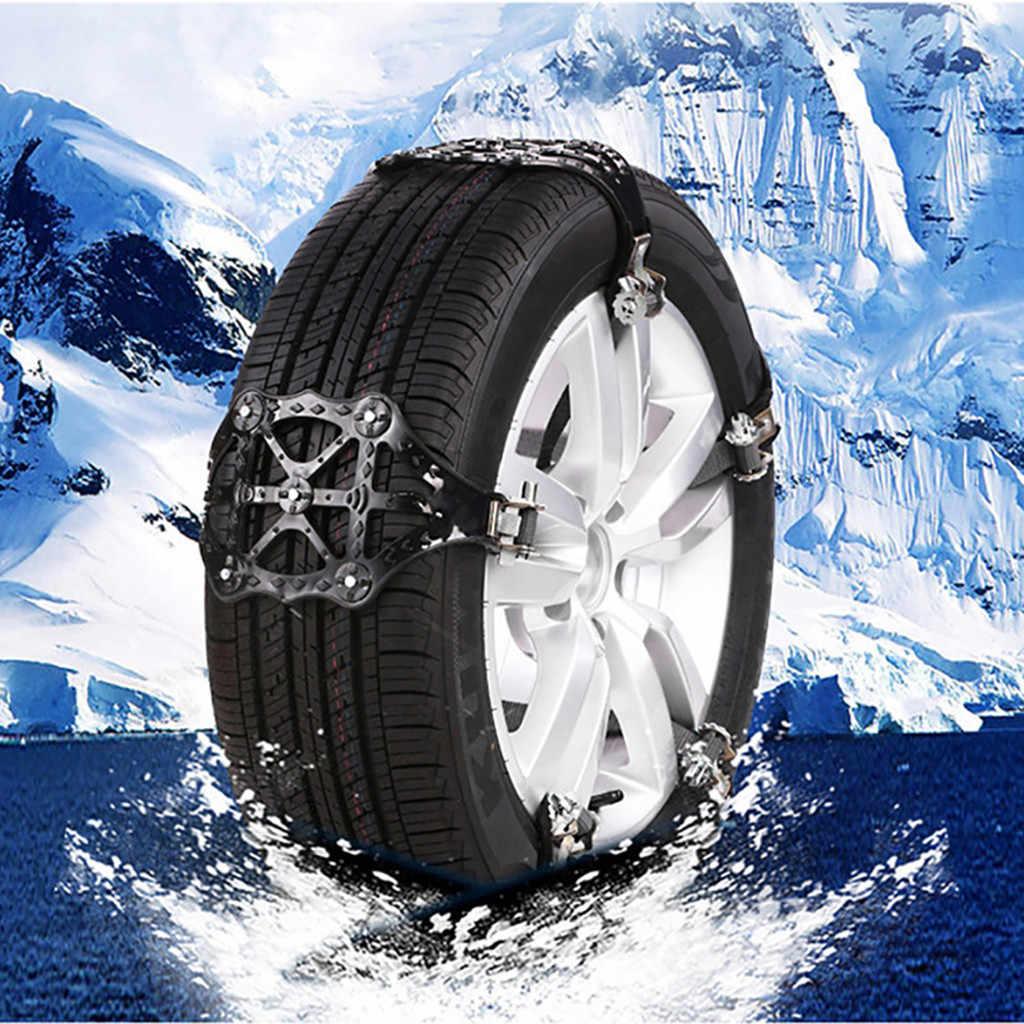 Cadena de nieve para coche, Cadena de nieve para invierno, fácil instalación, Cadena de nieve, cinturón antideslizante, seguro y seguro Cadena de nieve