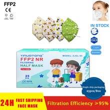 10pcs Children's Face Mask KN95 Facil Masks FFP2 CE Filter Mask Our De Filtro Antipolvo Máscara Mascarillas Mascherine Tapaboca