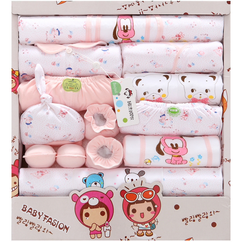 18 Pieces Spring And Summer Pure Cotton Newborns Clothes Set Newborn Baby Gift Package BABY'S FIRST Month Baby Clothing Supplies