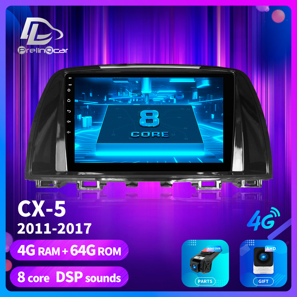 prelingcar For <font><b>Mazda</b></font> Cx-5 <font><b>cx5</b></font> cx 5 2014-2016 years Car Radio Multimedia Video stereo Player <font><b>Navigation</b></font> GPS Android 9.0 dashboard image