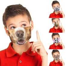 Mask Masque Protection Print Design Cotton Children for Fun with Enfant Kids