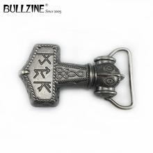 Bullzine commercio allingrosso Mjolnir fibbia della cintura THORSHAMMER VICHINGO fibbia della cintura musica fibbia della cintura FP 03721for 4 centimetri di larghezza cinghia