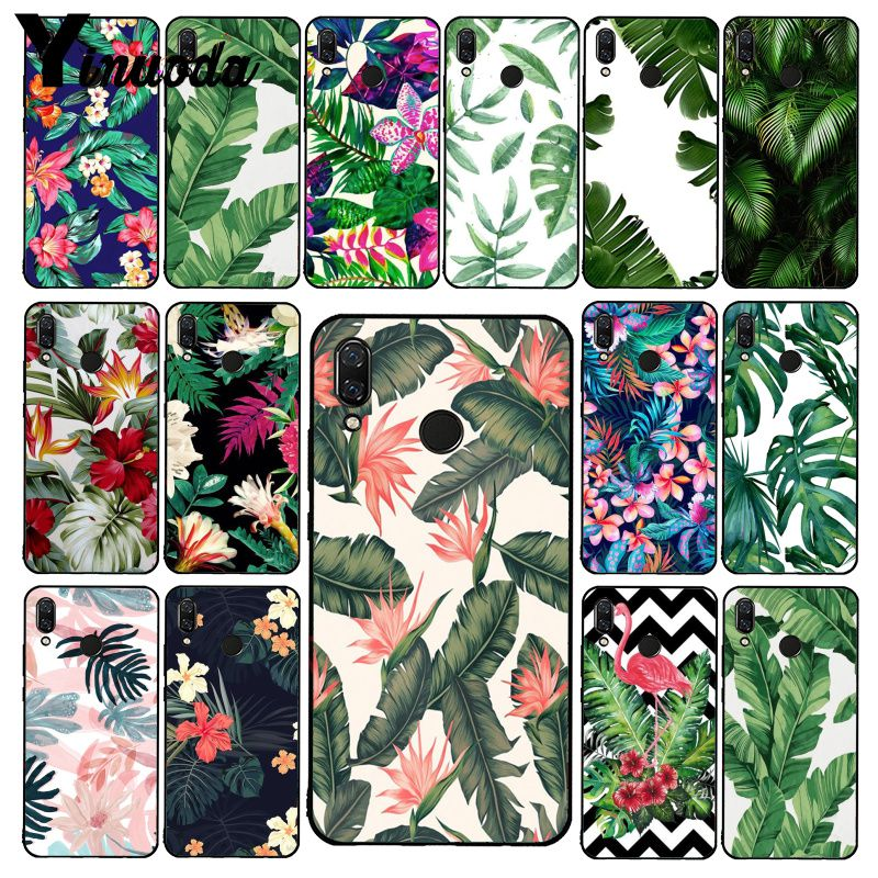 Yinuoda Green Plant Leaves Flower Phone Case For Xiaomi Redmi Note 7 5 4 Redmi 5plus 6A Note8 4X Note8Pro