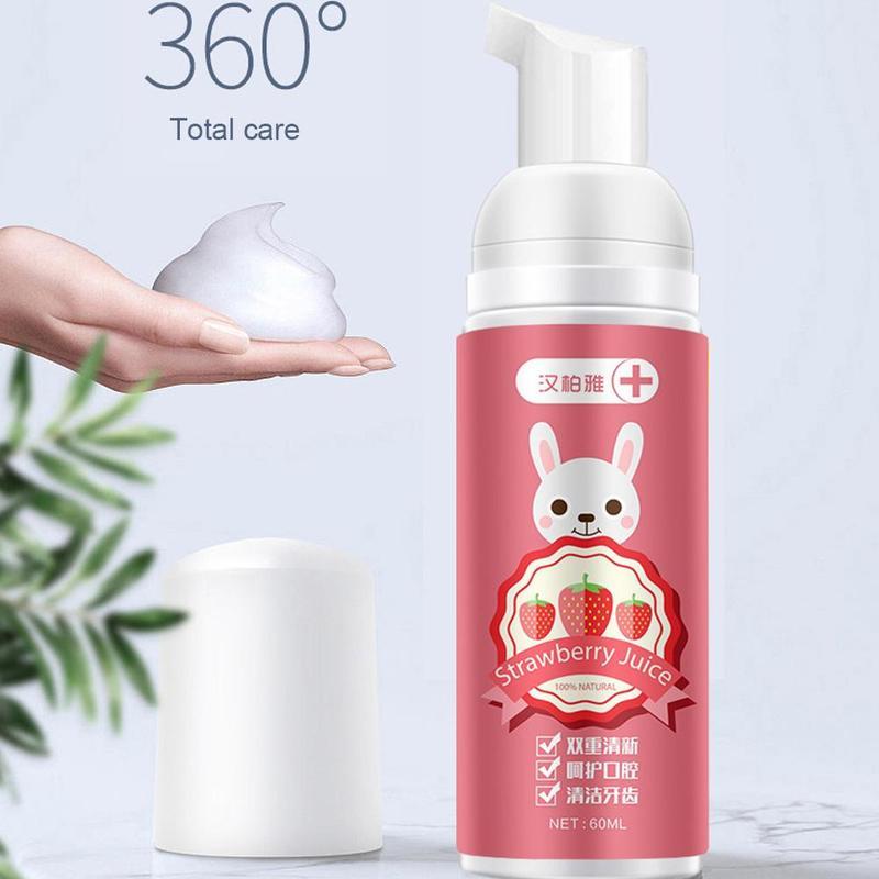 60ml Children's Toothpaste Children Can Swallow Mousse Foam Toothpaste Household Daily Necessities Strawberry Orange Random