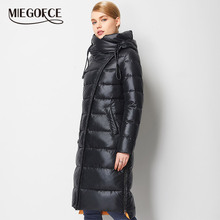 MIEGOFCE 2019 Fashionable Coat Jacket Women #8217 s Hooded Warm Parkas Bio Fluff Parka Coat Hight Quality Female New Winter Collection cheap Office Lady Ages 35-45 Years Old zipper 16641 Full Polyester COTTON Sustans Thick (Winter) Woven Asymmetric Length Solid