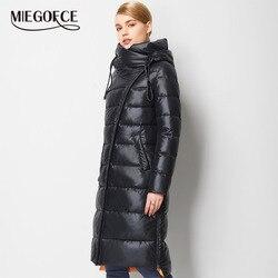 MIEGOFCE 2019 Modieuze Jas Jas vrouwen Hooded Warm Parka Bio Pluis Parka Jas Hight Kwaliteit Vrouwelijke Nieuwe Winter Collectie