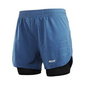 Image 5 - ARSUXEO Shorts de course pour hommes 2 en 1 Shorts de Sport à séchage rapide entraînement athlétique Fitness pantalons courts Shorts de Sport vêtements dentraînement B179