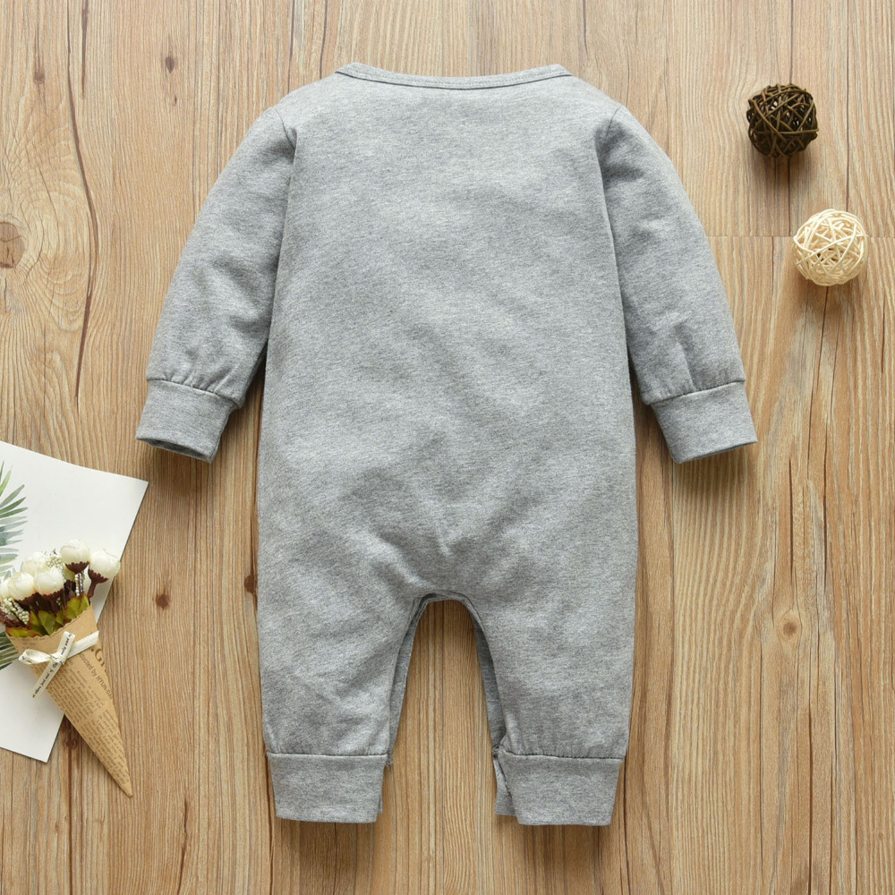 Baby Boys Girls Romper Cotton Long Sleeve Letter Mom Plus Dad Equal Me Jumpsuit Infant Clothing Autumn Newborn Baby Clothes 02